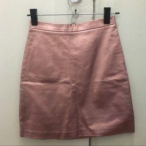 Rose gold mini skirt